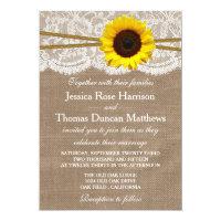 The Rustic Sunflower Wedding Collection 5x7 Paper Invitation Card (<em>$2.01</em>)