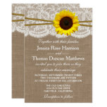 The Rustic Sunflower Wedding Collection Card