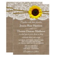The Rustic Sunflower Wedding Collection Card (<em>$2.01</em>)