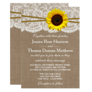 The Rustic Sunflower Wedding Collection Card at Zazzle