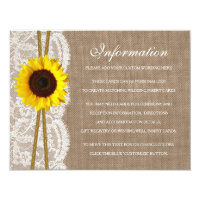 The Rustic Sunflower Wedding Collection Detail 4.25x5.5 Paper Invitation Card (<em>$1.85</em>)