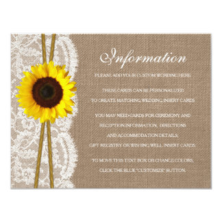 The Rustic Sunflower Wedding Collection Detail 4.25x5.5 Paper Invitation Card