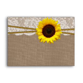 The Rustic Sunflower Wedding Collection Envelopes