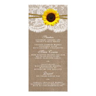 The Rustic Sunflower Wedding Collection Menu Card Custom Rack Card