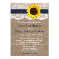 The Rustic Sunflower Wedding Collection - Navy Card (<em>$2.01</em>)