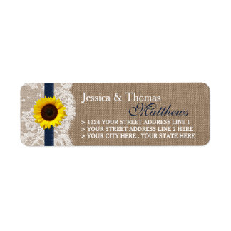 The Rustic Sunflower Wedding Collection - Navy Label