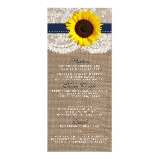 The Rustic Sunflower Wedding Collection - Navy Rack Card
