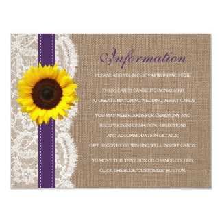 The Rustic Sunflower Wedding Collection - Purple Card