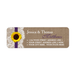 The Rustic Sunflower Wedding Collection - Purple Label