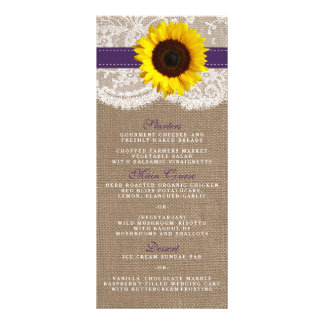 The Rustic Sunflower Wedding Collection - Purple Rack Card