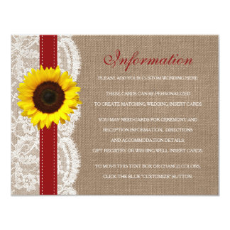 The Rustic Sunflower Wedding Collection - Red Card