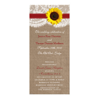 The Rustic Sunflower Wedding Collection - Red Rack Card