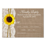 The Rustic Sunflower Wedding Collection RSVP Cards