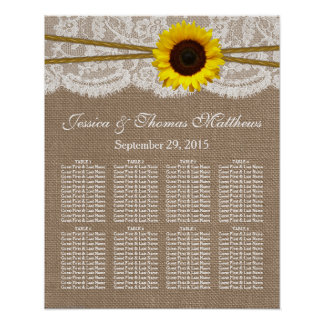 The Rustic Sunflower Wedding Collection Seating Print