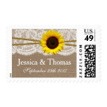 The Rustic Sunflower Wedding Collection Stamp