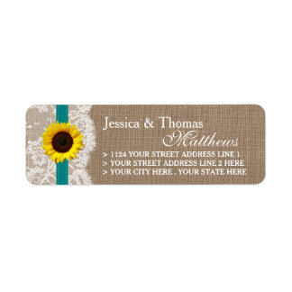 The Rustic Sunflower Wedding Collection - Teal Label