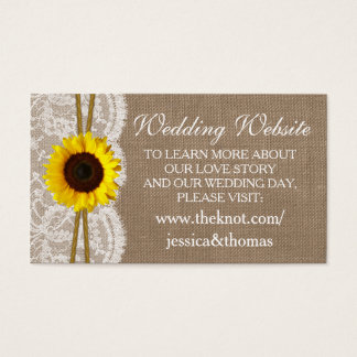 The Rustic Sunflower Wedding Collection Website Business Card