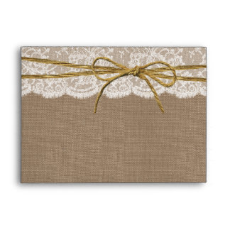 The Rustic Twine Bow Wedding Collection Envelope