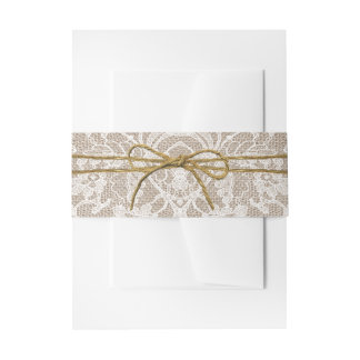 The Rustic Twine Bow Wedding Collection Invitation Belly Band