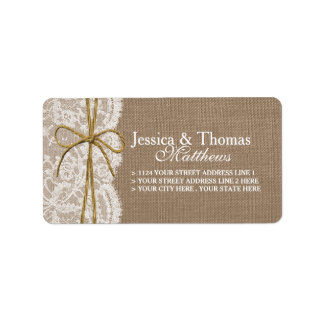 The Rustic Twine Bow Wedding Collection Label
