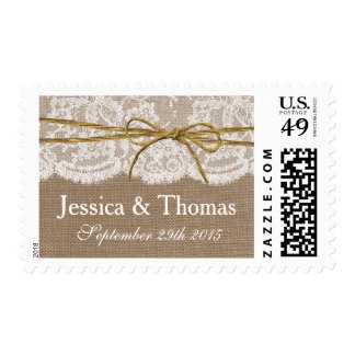 The Rustic Twine Bow Wedding Collection - Postage