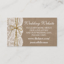 The Rustic Twine Bow Wedding Collection Website Enclosure Card