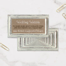 The Rustic White Frame & Burlap Wedding Collection Business Card