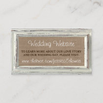 The Rustic White Frame & Burlap Wedding Collection Enclosure Card