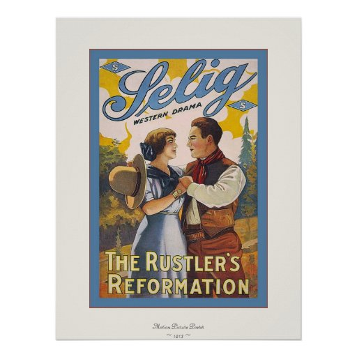 The Rustler's Reformation~Vintage Motion Picture Poster