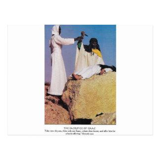 the sacrafice of issac postcard