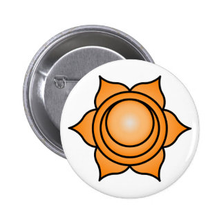 The Sacral Chakra 2 Inch Round Button