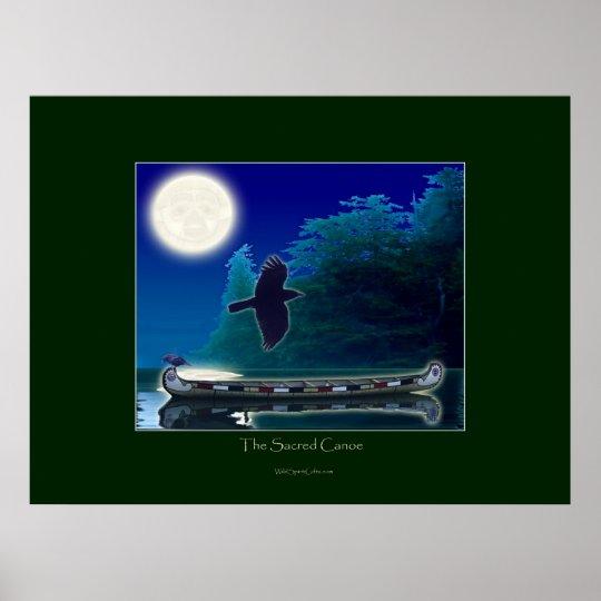 THE SACRED CANOE Art Poster