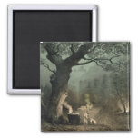 The Sacred Grove of the Druids 2 Inch Square Magnet