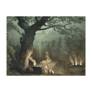 The Sacred Grove of the Druids Canvas Print