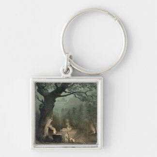 The Sacred Grove of the Druids Keychain
