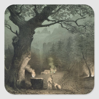 The Sacred Grove of the Druids Square Sticker