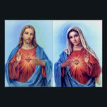 """The Sacred Heart and The Immaculate Heart Poster<br><div class=""""desc"""">The Sacred Heart of Jesus and the Immaculate Heart of Mary</div>"""