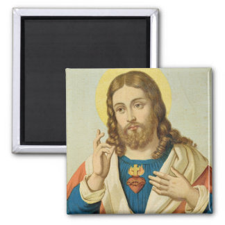 The Sacred Heart 2 Inch Square Magnet