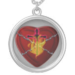 the sacred heart personalized necklace
