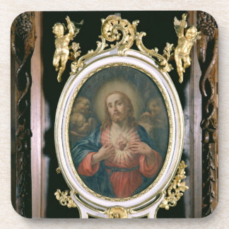 The Sacred Heart of Christ, from the Boarding Scho Beverage Coaster