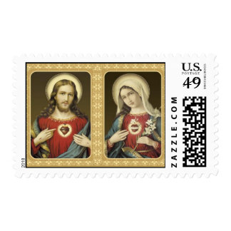 The Sacred Heart of Jesus and The Immaculate Heart Postage