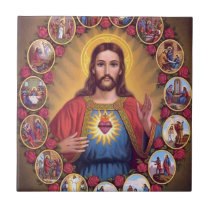 The Sacred Heart Of Jesus Tile