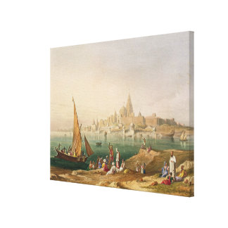 The Sacred Town and Temples of Dwarka, from Volume Stretched Canvas Print