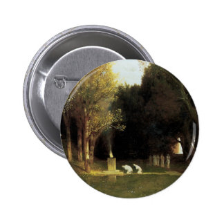 The Sacred Wood by Arnold Bocklin, Vintage Art Button