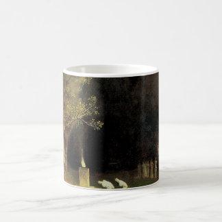 The Sacred Wood by Arnold Bocklin, Vintage Art Coffee Mug