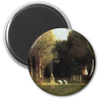 The Sacred Wood by Arnold Bocklin, Vintage Art Magnet