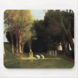 The Sacred Wood by Arnold Bocklin, Vintage Art Mouse Pad