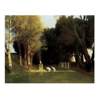 The Sacred Wood by Arnold Bocklin, Vintage Art Postcard