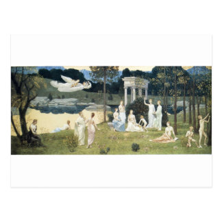 The Sacred Wood Cherished by the Arts Postcard