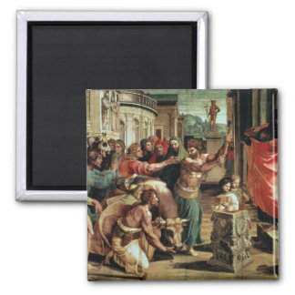 The Sacrifice at Lystra (cartoon for the Sistine C 2 Inch Square Magnet